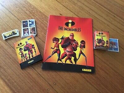 2 x THE INCREDIBLES STICKER ALBUMS COMPLETE WITH ALL STICKERS (Not Inserted)