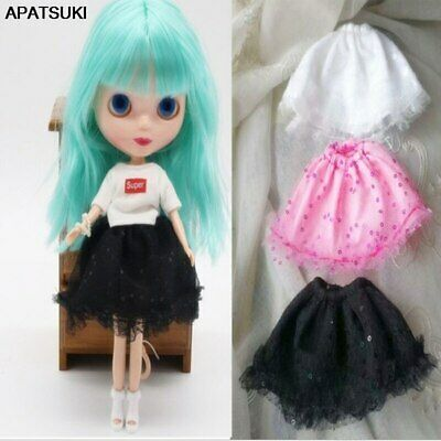 Fashion Doll Clothes For Blythe Doll Outfits White Top Black Skirt For Blyth 1/6