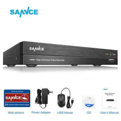 SANNCE Full 1080P 5in1 8CH DVR 2MP Video Record for CCTV Security Camera System