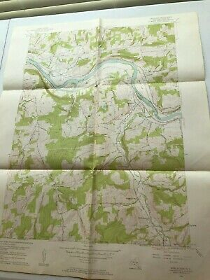 Vintage Apalachin Quadrangle Owego Ny Topographical Paper Poster Map 1956 22X26