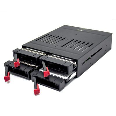 """OImaster  4 x 2.5""""SATA 6Gbps SSD/HDD Mobile Rack Key Lock for 5.25""""Drive Bay Ww"""