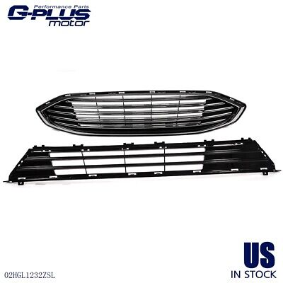 2017 2018 Front Bumper Upper & Lower Grille Assembly For FORD FUSION