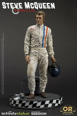 Steve McQueen Statue King of Cool Infinite Statue Le Mans Racing Maquette New