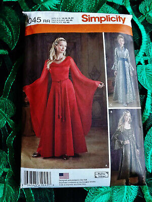 Simplicity 1045  Medieval Misses Women Costume Dress Sewing Pattern S14-20