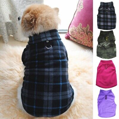 Small Pet Dog Cat Fleece Harness Clothes Puppy Sweater Coat Shirt Jacket Apparel
