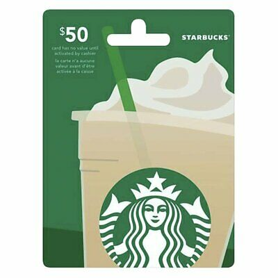 Starbucks Coffee Gift Card $50 Messages Delivery Fast and Convenient ~ 10% OFF