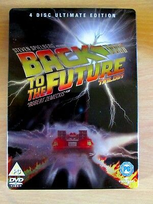 Back To The Future Trilogy 4 Discs Ultimate Dvd Edition Steel Book Steelbook