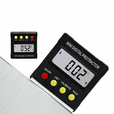 4*90°Inclinometer Digital Protractor Level Box Magnet Angle Finder Bevel Gauge