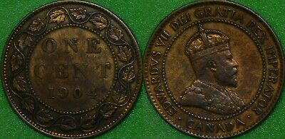 1904 Canada Large Penny Graded as Very Fine