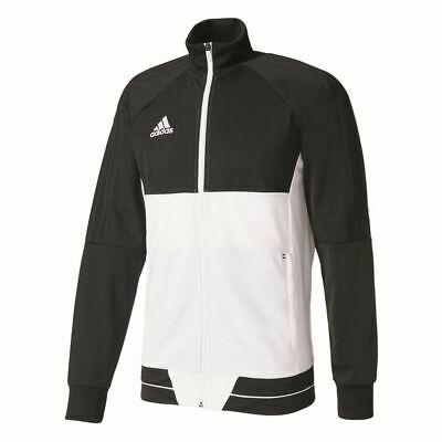 Adidas Mens Tiro 17 Football Training Jacket Full Zip Track Top Sports Black Whi