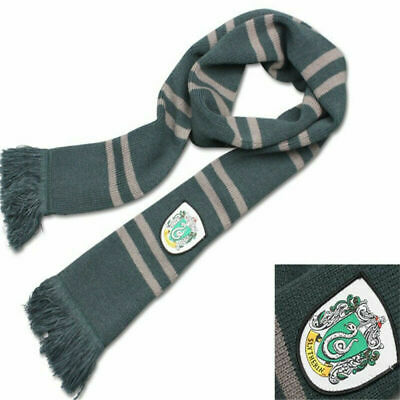 Harry Potter Slytherin Scarf Knitted Fabric Warm Costume Cosplay Xmas Gift