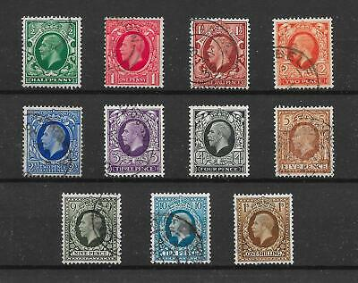 Gb Kgv 1934-36 Photogravure Definitive Set Of 11  Sg439/449, Very Fine Cds Used