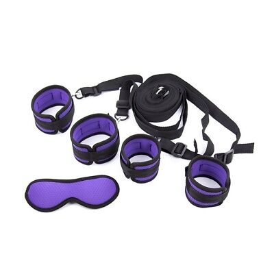 MASK KIT SET costrittivo completo letto sex toy bondage viola e nero sadomaso