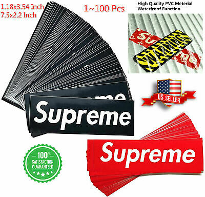 Supreme Stickers Waterproof Phone Laptop Backpack Car Laggages Red Black Sticker