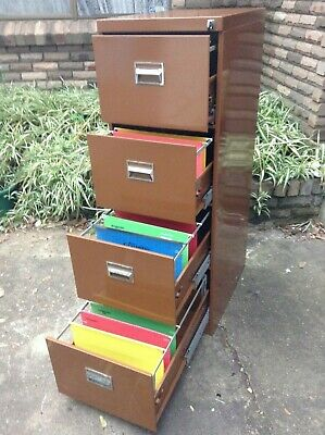 Filing Cabinet  - NAMCO  - 4 drawer w/Key -  Comm Quality -  gc  -  BROWN