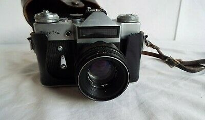 Zenit E Camera With Helios 44-2 Lens and Black Case