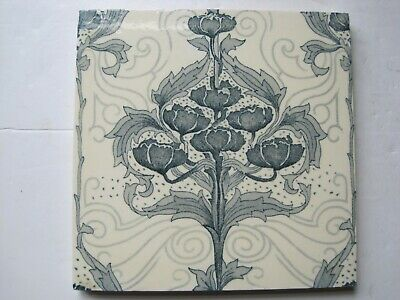 "ANTIQUE VICTORIAN 6"" MINTONS ART NOUVEAU TRANSFER PRINT WALL TILE c1898"