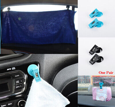 Car Window Suction Sucker Sun Shade Curtain Clips Hook Cards Ticket Holders LH