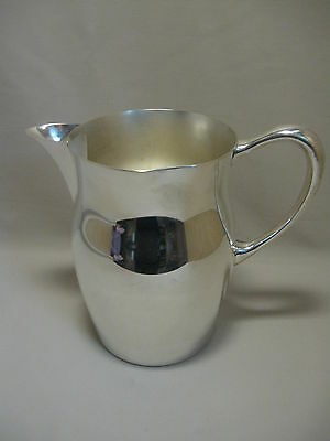 Silver Plate Water Beverage Ice Lip Pitcher 7 3/4 Inches High