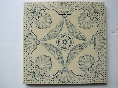 "ANTIQUE VICTORIAN 6"" T & R BOOTE AESTHETIC TRANSFER PRINT TILE c1880 -1910"