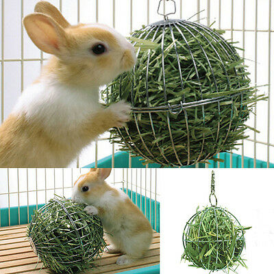 Sphere Feed Dispenser Hanging Ball Toy Guinea Pig Hamster Rabbit Pet Supply、 fi
