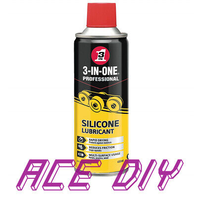 Silicone Lubricant Spray 3 in 1 400ml High Performance Multipurpose Rapid Drying
