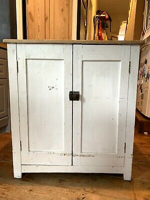 Painted Victorian Cupboard With Scrub Top (and A Super Low Starting Price)