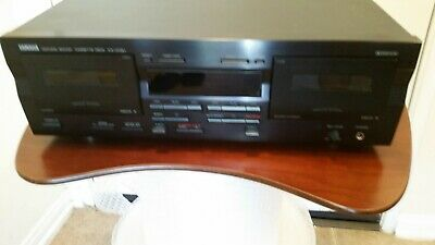 YAMAHA KX-W321 Natural Sound Dual Cassette Deck Player Tested works