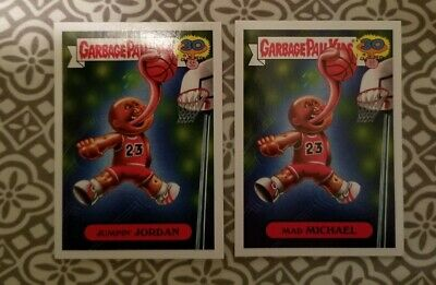 Garbage Pail Kids 30th Anniversary Jumpin' Jordan And Mad Michael Cards