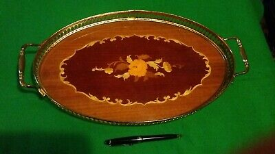 Large inlaid tray from Sorrento lovely item flowers and roses