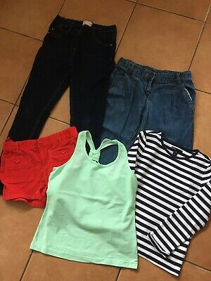 Bundle Of Girls Jeans Shorts And Tops Age 10-11 Yrs