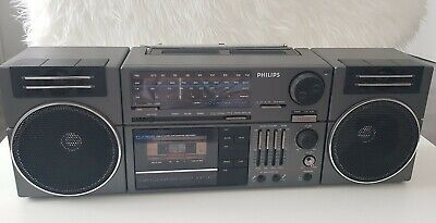 Boombox vintage Radio cassette philips D8454