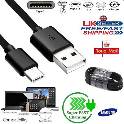 Samsung Genuine Fast Charger TYPE C USB C Data Sync Cable Galaxy S8 S9+ S10 Plus