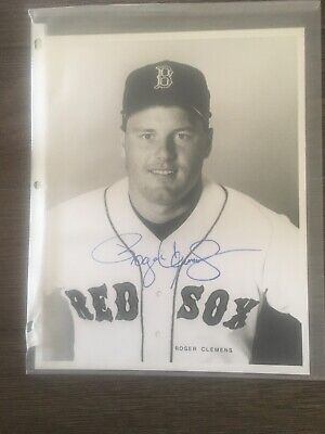 sports memorabilia signed Roger Clemens Autograph Photo Red Sox