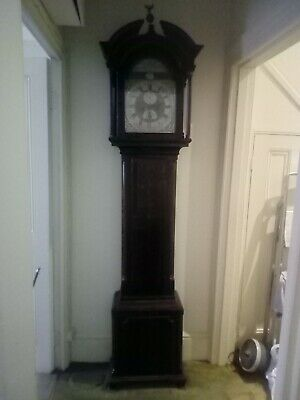 Good 8 Day Rocking Ship Longcase  Grandfather Clock With Date Aperture