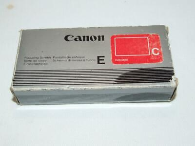Canon Focusing Screen E Type C for EOS 600, 620, 630, 650 & RT Boxed & Cased VGC