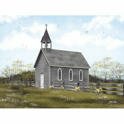 Little Church Prairie Art Print BJ1104 Framed or Plaque by Billy Jacobs