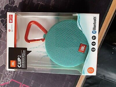 JBL Clip 2 Waterproof Portable Bluetooth Speaker - Teal BNIB
