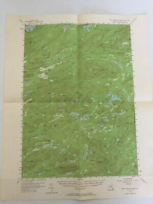Vintage West Canada Lakes Ny Topographical Paper Poster Map 1954 Geological