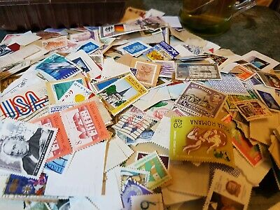 Stamps Joblot mainly foreign  ideal starter pack .  Actual stamps will vary
