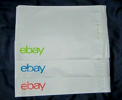 "eBay-Branded Polymailer Red, Green & Blue 8.5"" x 6.25"" (No Padding) - 25's (B)"