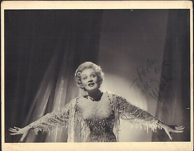 Marlene Dietrich INCREDIBLE RARE 11x14 MUST SEE ! Signed Photograph