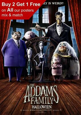 The Addams Family 2019 Teaser Movie Poster A5 A4 A3 A2 A1