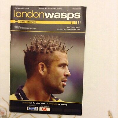 Rugby Union London Wasps V Sale Sharks 16th September 2001