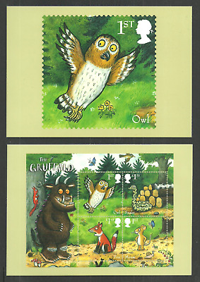 Gb 2019 The Gruffalo Birds Owls Butterflies Wildlife Animation Phq Cards Mnh