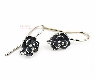 2 pairs 925 Sterling Silver Earring Findings Ear Wire French Hook DIY A1824