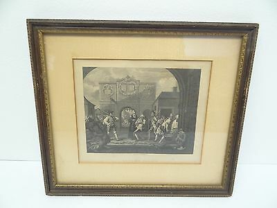 Antique Old Signed W Radclyffe Gate of Calais Engraving Framed Hanging Wall Art