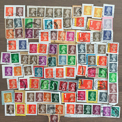 GB Machin Definitive Franked Security Stamps High Low Values 45g - 2 Photos A201