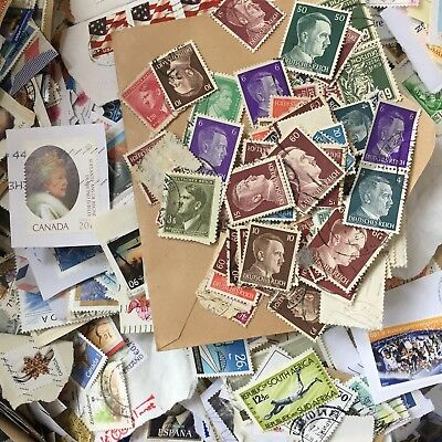 1KG WORLDWIDE Used STAMPS World Commonwealth KILOWARE Antique Recent Lot 50