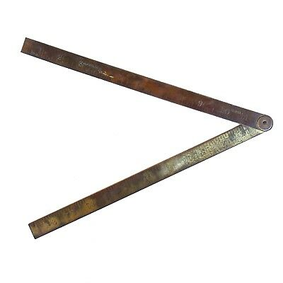 Vintage 24'' Brass Folding Ruler no.1243